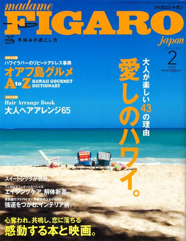 『FIGARO』2016年2月号で、クレイウォッシュが掲載されました