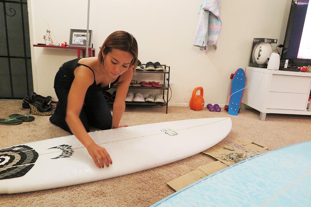 サーフィンとの運命的な出会いを果たしたカリフォルニアのキャリアウーマン、Megumiさんの美しさに迫る
