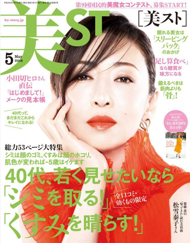 『美ST』5月号にQuSomeローションが掲載されました