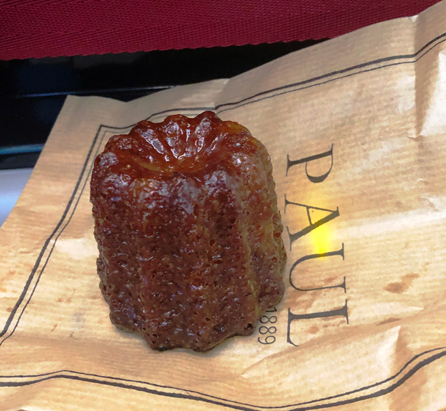 モンパルナス駅で購入した、フランス菓子「カヌレ」。