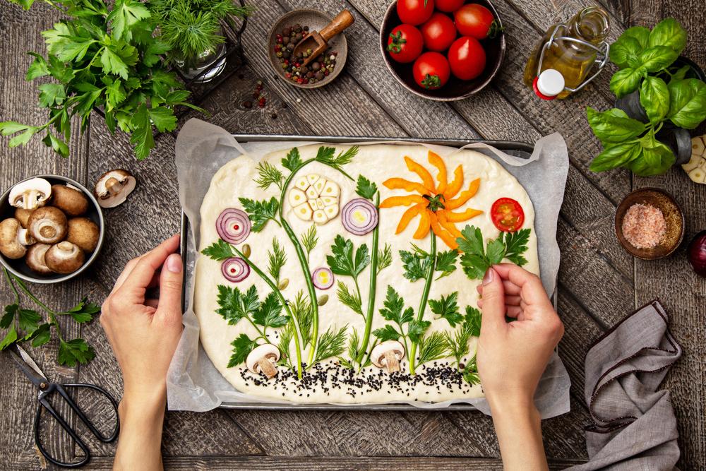 アメリカで大人気!食べるアート「フォカッチャガーデン」