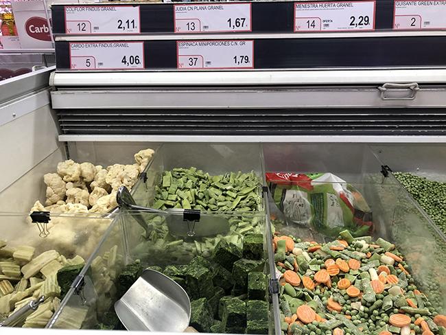 お手頃価格なのもうれしい量り売り冷凍食品。